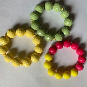 Hidden Mickey Mouse Girls Beaded Bracelet +2 More